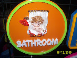 Bathroom Sign Made with Polymer Clay