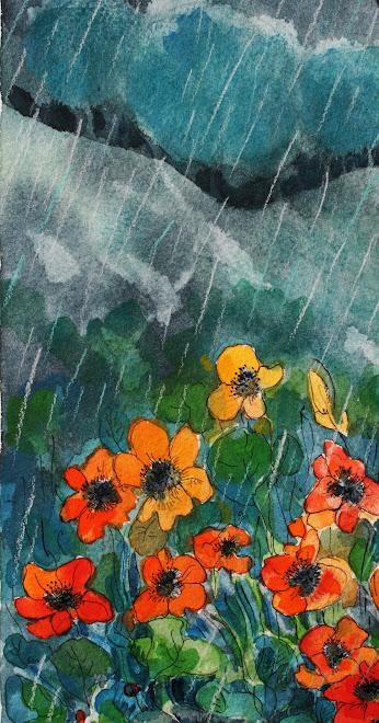 """"""" Jour de pluie """" détail"""