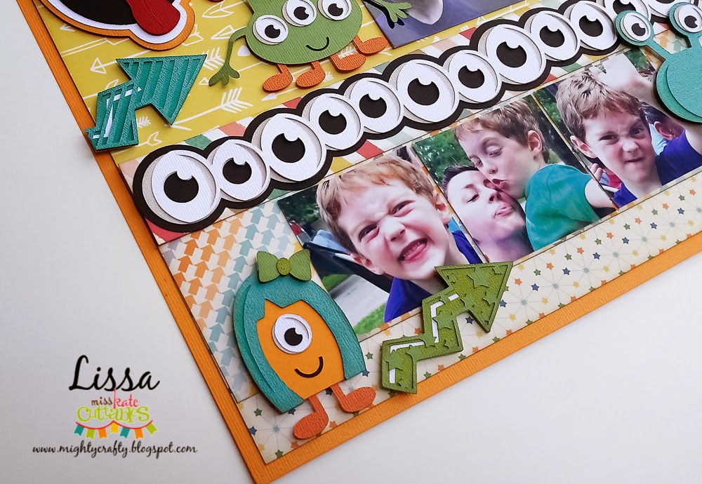 Funny Face layout by Lissa for Miss Kate Cuttables -- www.MightyCrafty.me