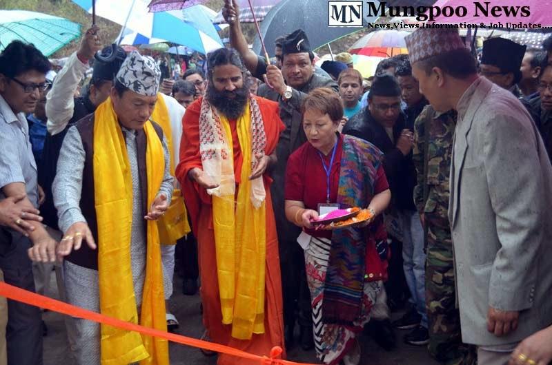 GTA chief Bimal Gurung Baba Ramdev Ratan Thapa