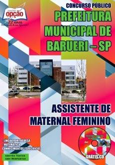 Apostila Concurso Prefeitura Municipal de Barueri para Assistente e Merendeira - 2015.