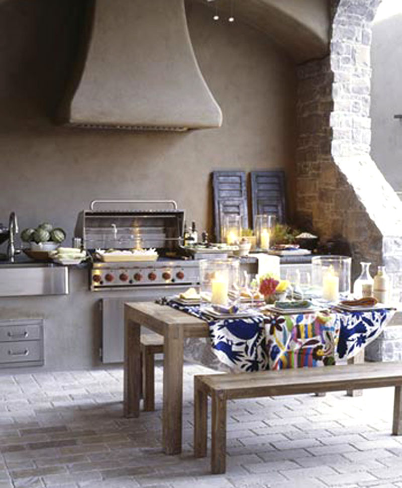 New home interior design southwestern country style for Country outdoor kitchen