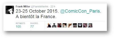 Frank Miller, invité d'honneur du Comic Con Paris