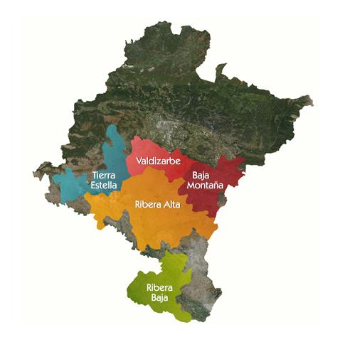 MAPA DE LA COMUNIDAD FORAL DE NAVARRA