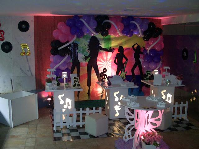 Tema infantil Discoteca - decoração provençal para festa de aniversário