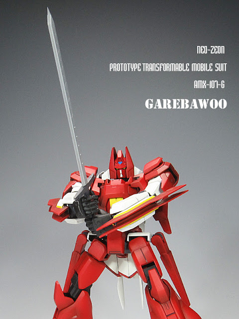 Transformable mobile suit Garebawoo by inunohito