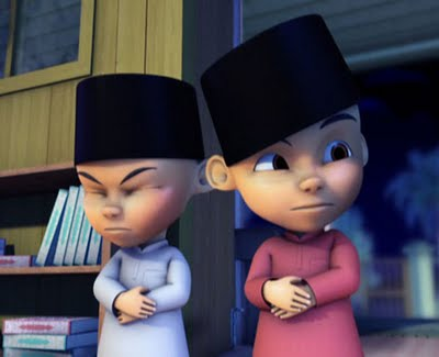 Upin Ipin cartoon wallpaper