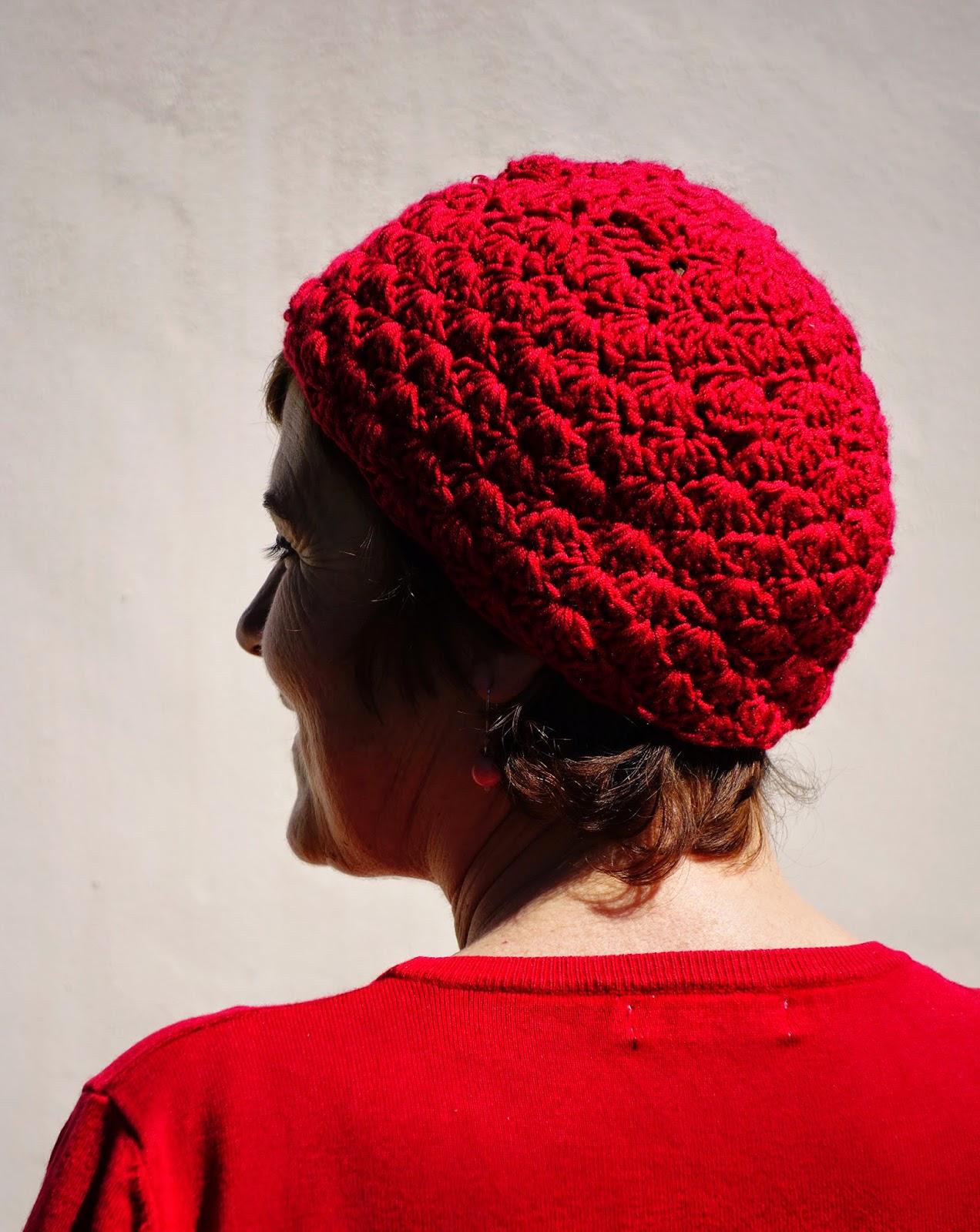 nunonu: Gorro de Crochet con punto abanico