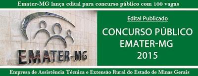Apostila Emater MG 2016 (Minas Gerais) Assistente Administrativo.