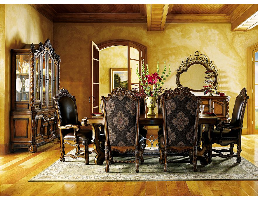 Tuscan dining room design ideas exotic house interior for Tuscan decorations for home
