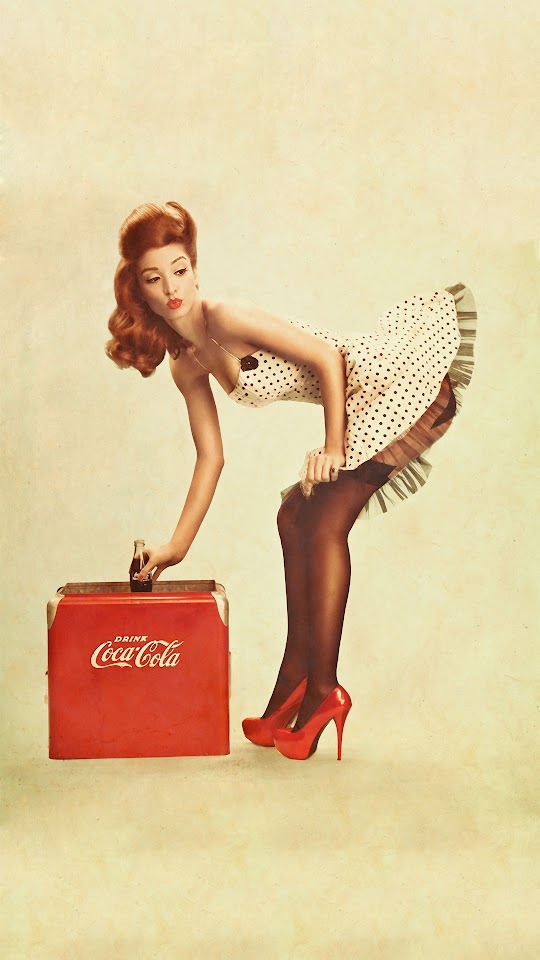 Coca Cola Pin Up Girl  Galaxy Note HD Wallpaper