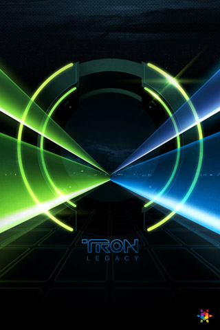 iphone wallpaper tron lock screen