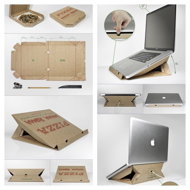 How to make a Laptop stand from Pizza box..? | DIY cheap laptop stand out of carton box paper