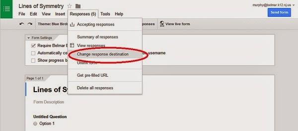 Special Tech Teach: Google Forms Tip: Changing Response Destination