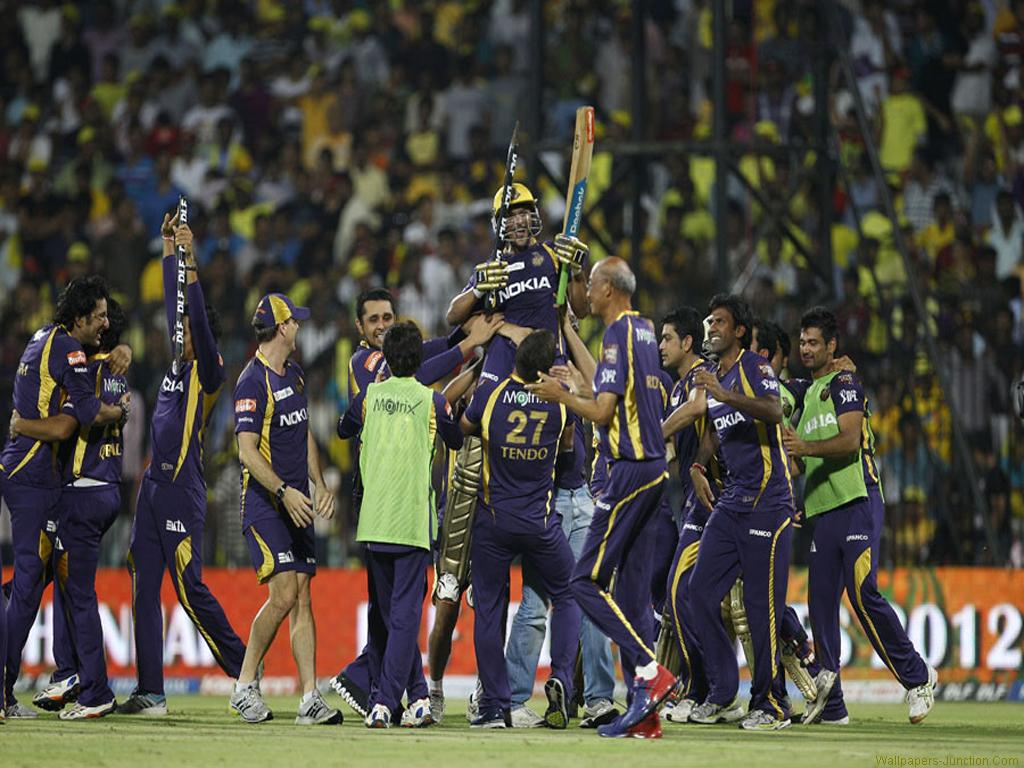 Cricket Wallpapers Kolkata Knight Riders Celebrates 2012 Ipl