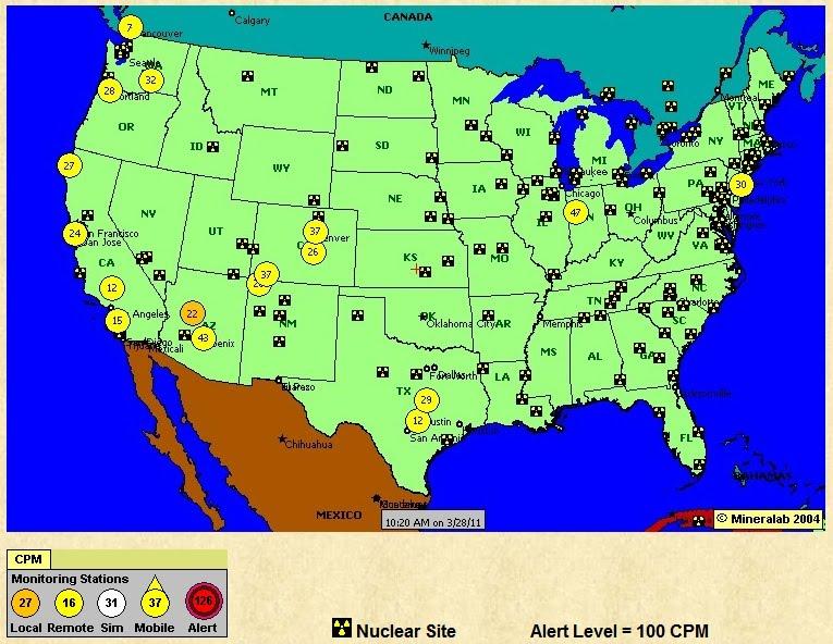 Us Background Radiation Map