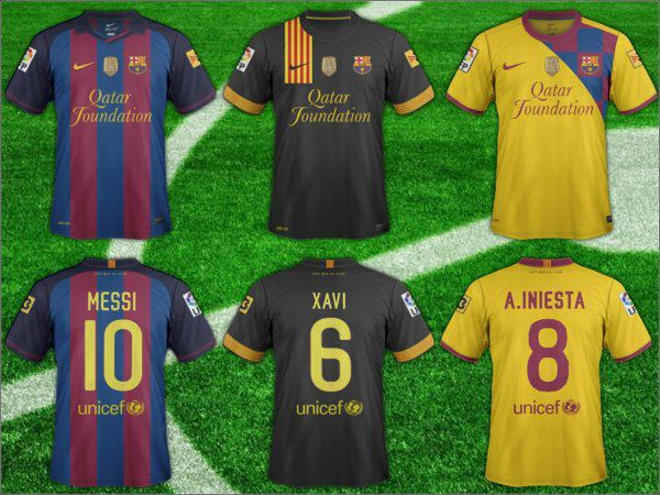 Latest Version Of The FC Barcelona 2011 12 Shirt    Bar  A Photo