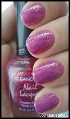 kleancolor fuschia holo over opi sparrow me drama