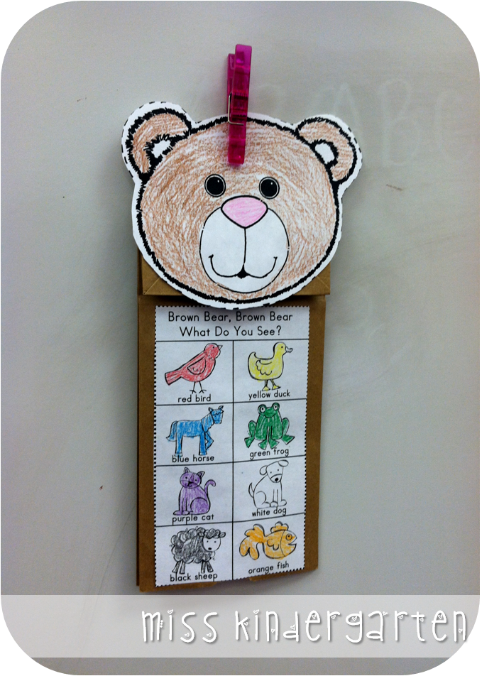 The first week of school and classroom pictures miss for Brown paper bag crafts for preschoolers