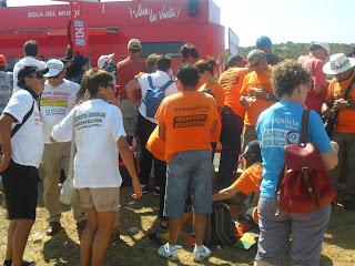 Protestas de afectados por preferentes en la Vuelta a España 2013