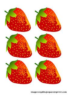 Muchos dibujos de fresas para imprimir