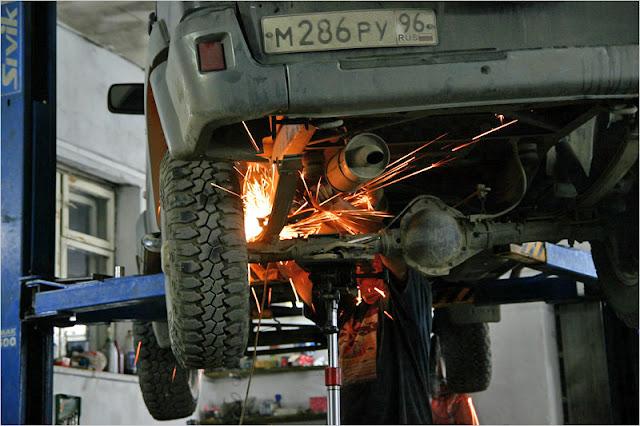 Aktobe, UAZ-Patriot, remont ressory