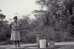 Drawing water from the local well