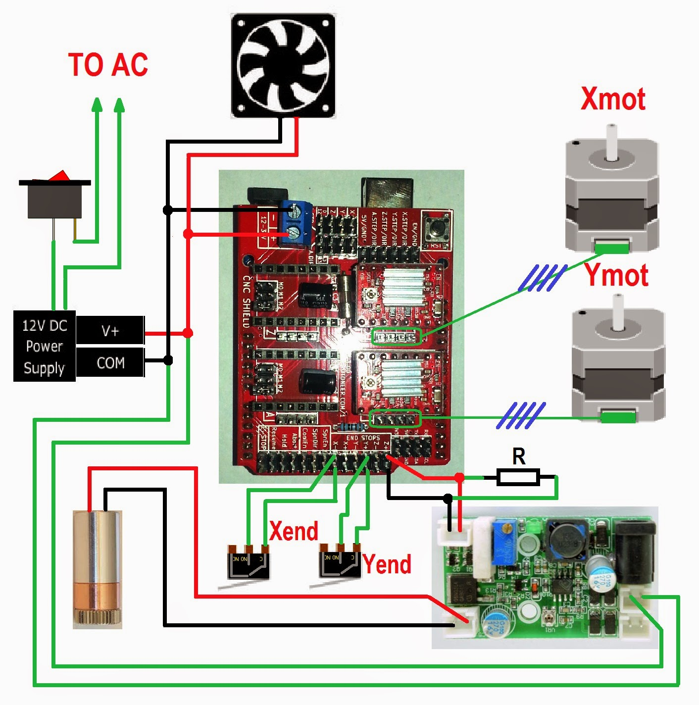 Wiring Arduino Cnc Shield Circuit Diagrams Wire Center Adjustabledutycycle Mono Diagram Tradeoficcom 3dpburner And Tuning Rh Blogspot Com Con Encoder Controller