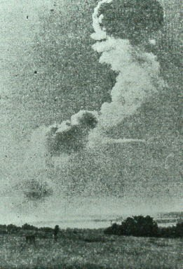 Plume from Bedenham Explosion 1950