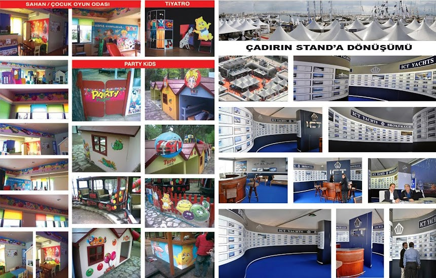 PARTY KIDS  BOAT SHOW FUAR STANDI