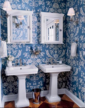 To da loos blue washrooms celebrating my favorite colour for Blue bathroom wallpaper