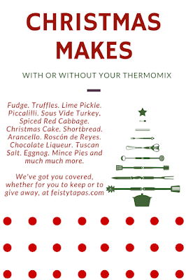 The Thermo Cooking UK with Feisty Tapas list of Christmas makes, food and gifts