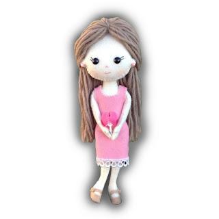 Candi Felt Doll Kit