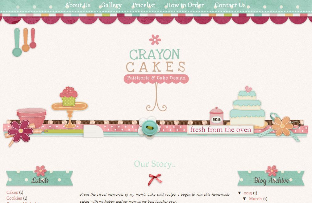 Crayon Cakes Scrapbook Style Blog Design | Ipietoon-Cute Blog Design