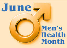 Men's Health Month graphic
