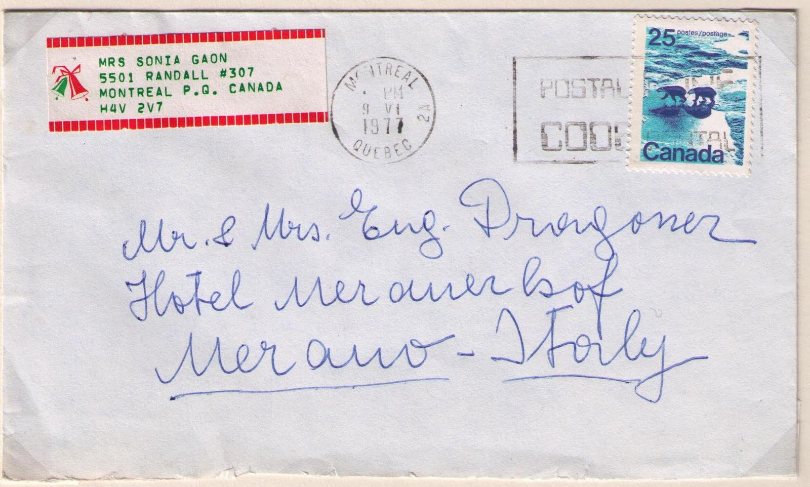 25 cents international letter rate