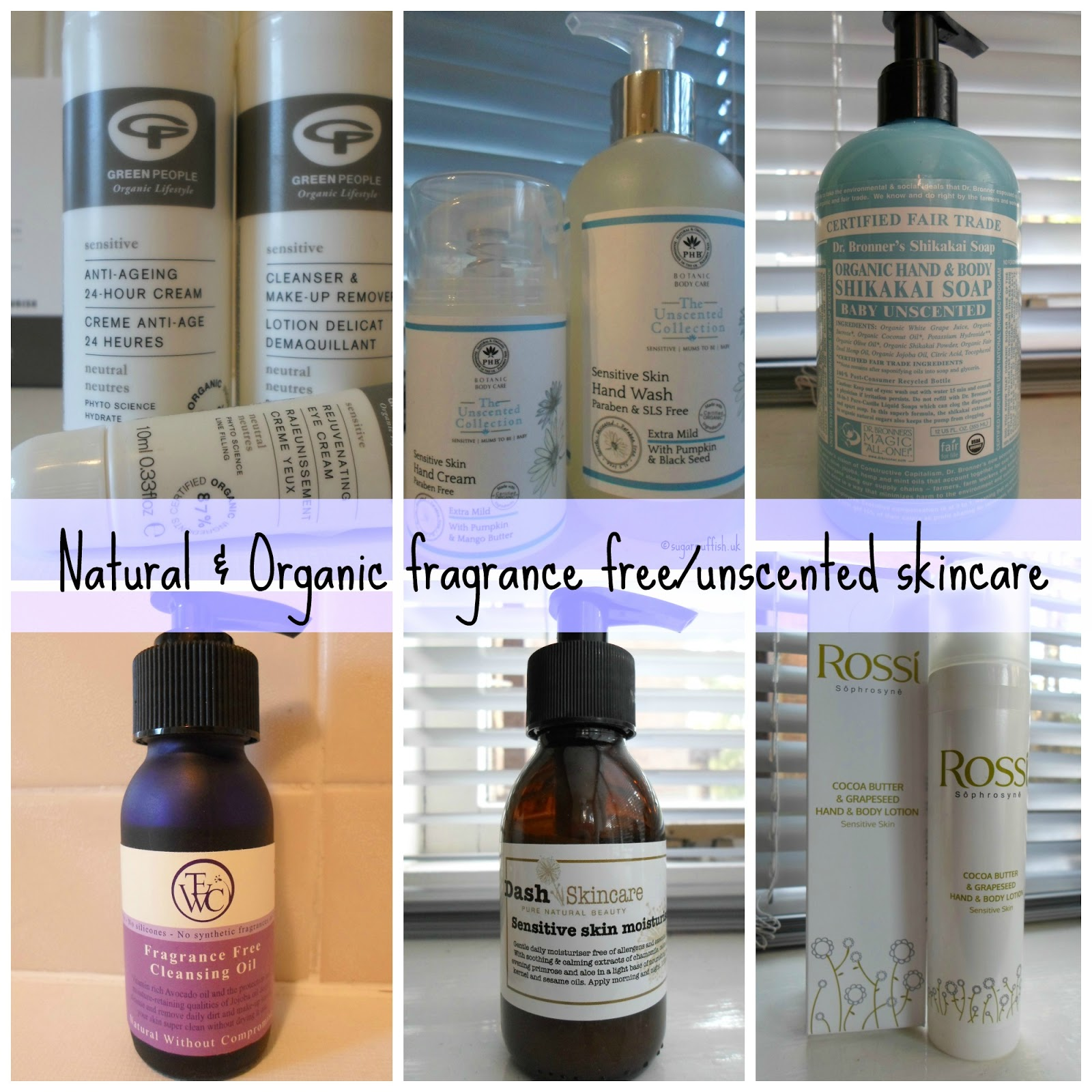Natural & Organic Brands with Fragrance Free or Unscented Products