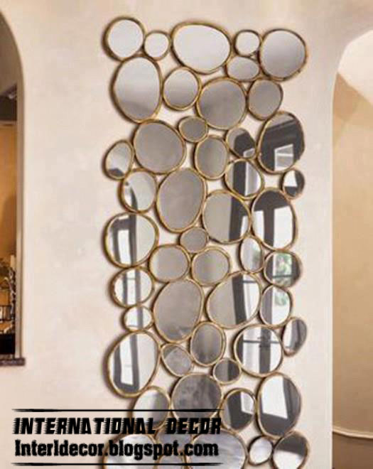 modern mirror frames design with glided frames wall mirror