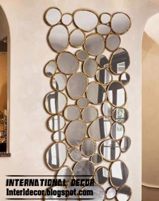 modern mirror frames design with glided frames, wall mirror