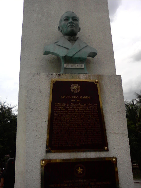 PUPCET Day - Bust of Apolinario Mabini