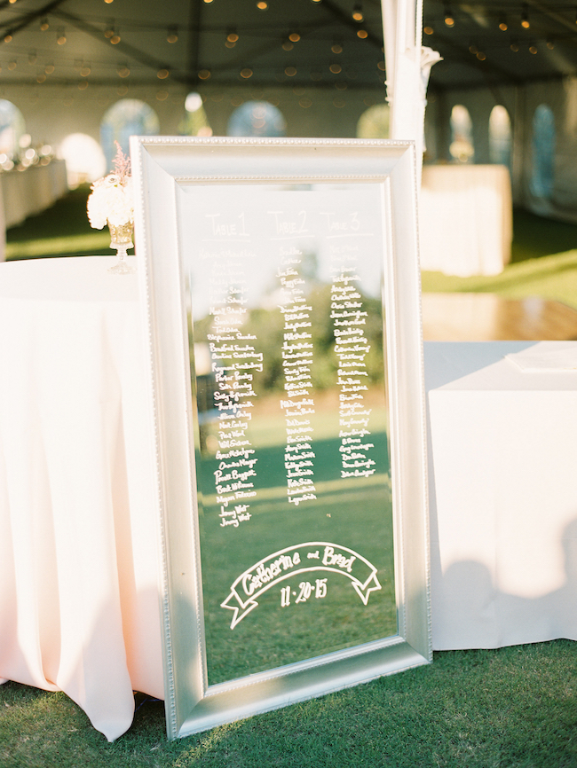 Wedding Seating Chart Mirror Seating Chart Ideas
