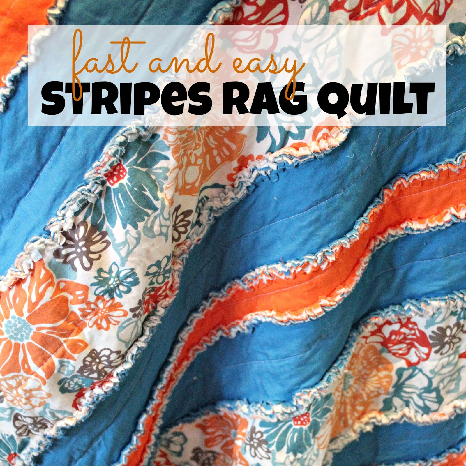 Life In Our Nomad Stripes Rag Quilt Tutorial