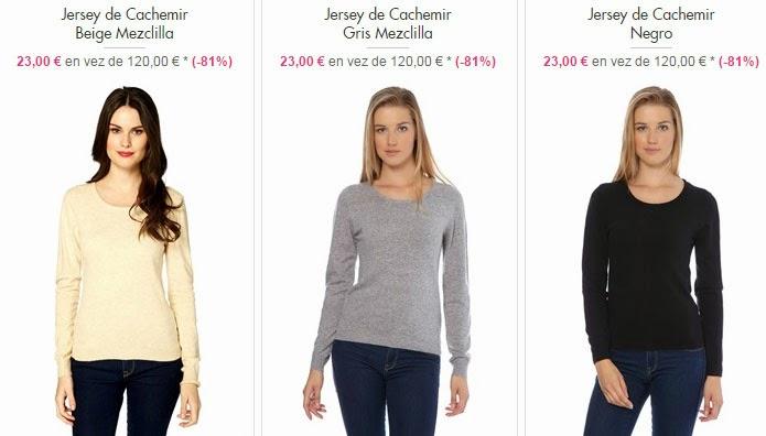 Jersey cachemir barato