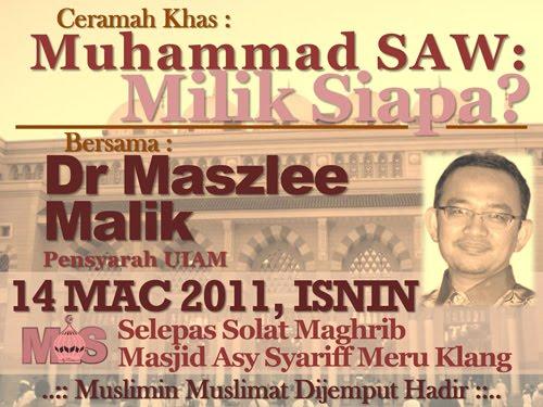 Dr. Maszlee Malik www.mymaktabaty.com