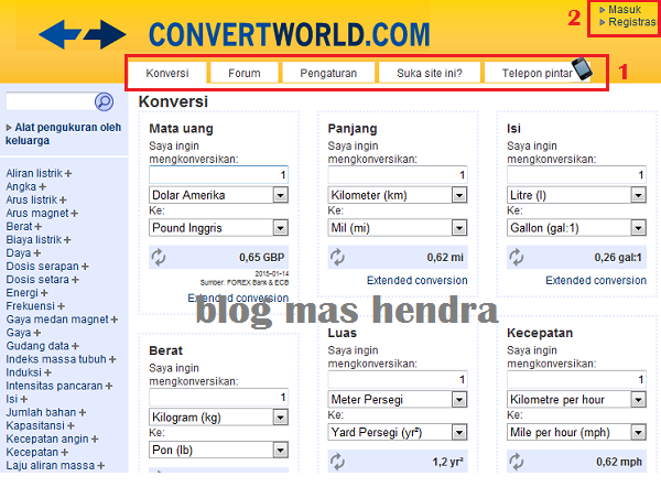 screenshot website convertworld