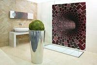 paredes de baño con mosaicos
