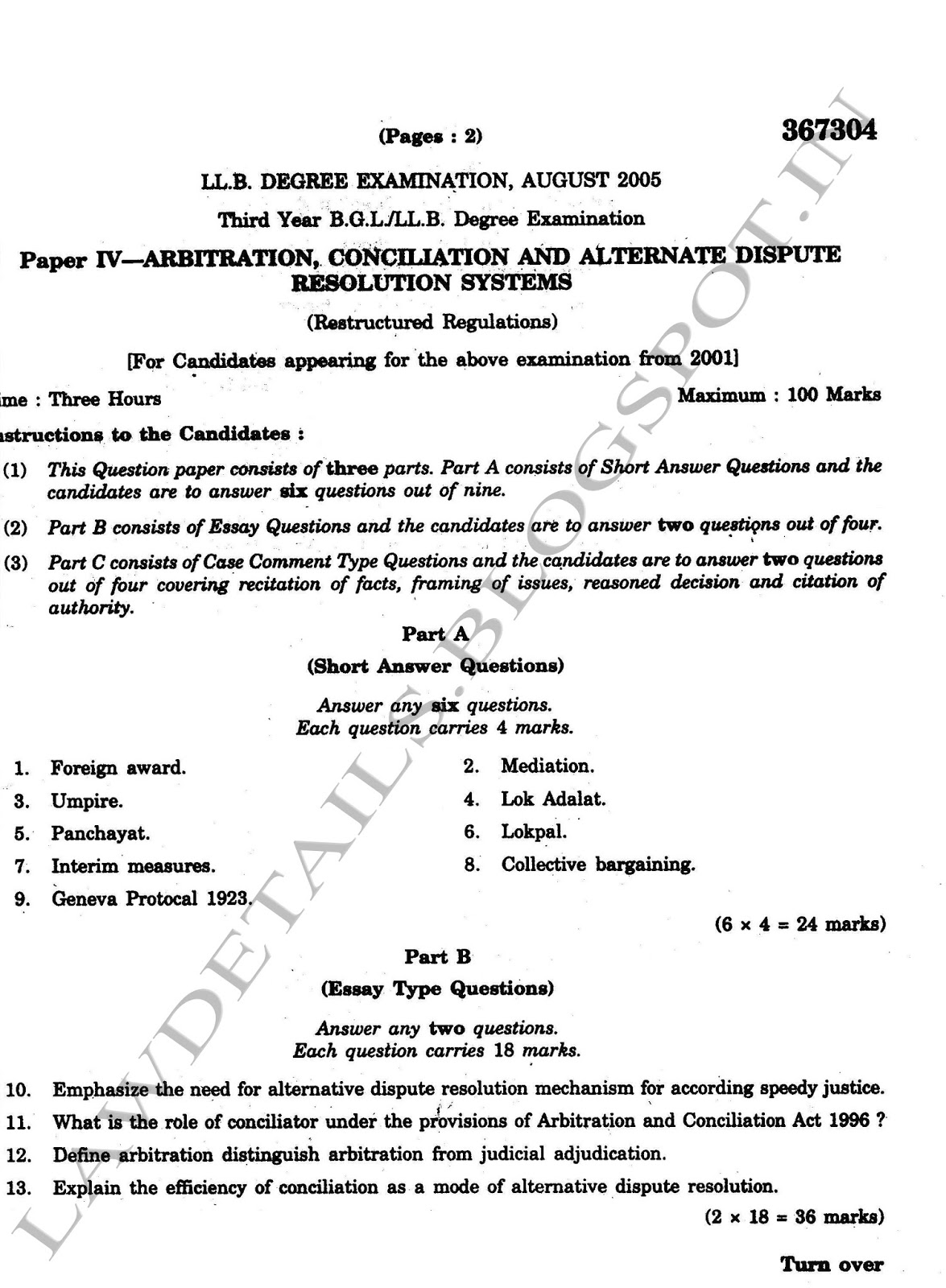 lawdetails pot in alternate dispute resolution sv aug 2005 page 1