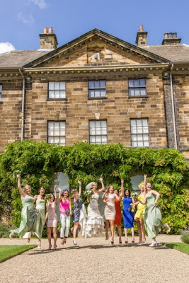 Ormesby Hall bridal party jumping for joy