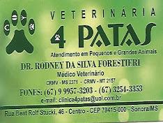 4 PATAS O LUGAR DE CURAR SEU ANIMAL