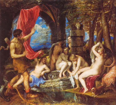 "Famous Painting ""Diana and Actaeon"" by Titian, 1559"